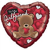 "Girlfriend Valentines Balloon - 18"" Foil (each)"