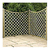 6FT Pressure Treated Concave Diamond Trellis - 1 Panel Only 6'