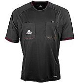 adidas Mens Black Short Sleeved Formotion Referee Shirt Jersey - Black
