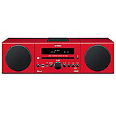 YAMAHA MCRB142 DAB/DAB+/FM/CD/USB/BLUETOOTH MICRO HIFI SYSTEM WITH iPOD DOCK (RED)