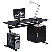 Alphason Montana Glass Computer Desk
