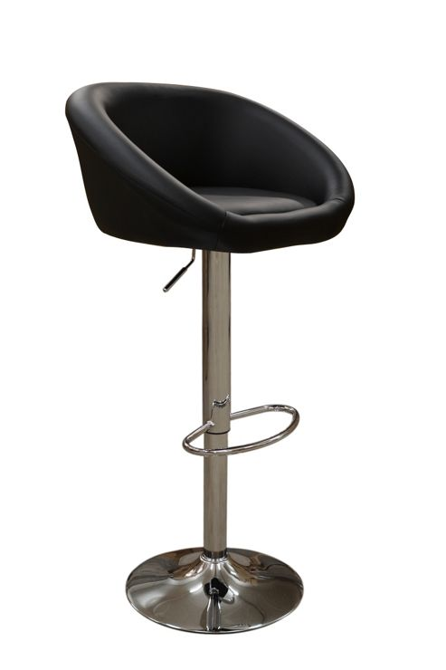 Venus Black Faux Leather Bar Stool