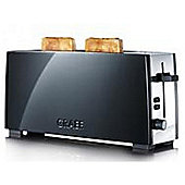 Graef Extra Lift 2 Slice Toaster - Black & Stainless Steel