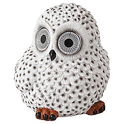 buy tesco snowy owl solar light from our solar lights. Black Bedroom Furniture Sets. Home Design Ideas