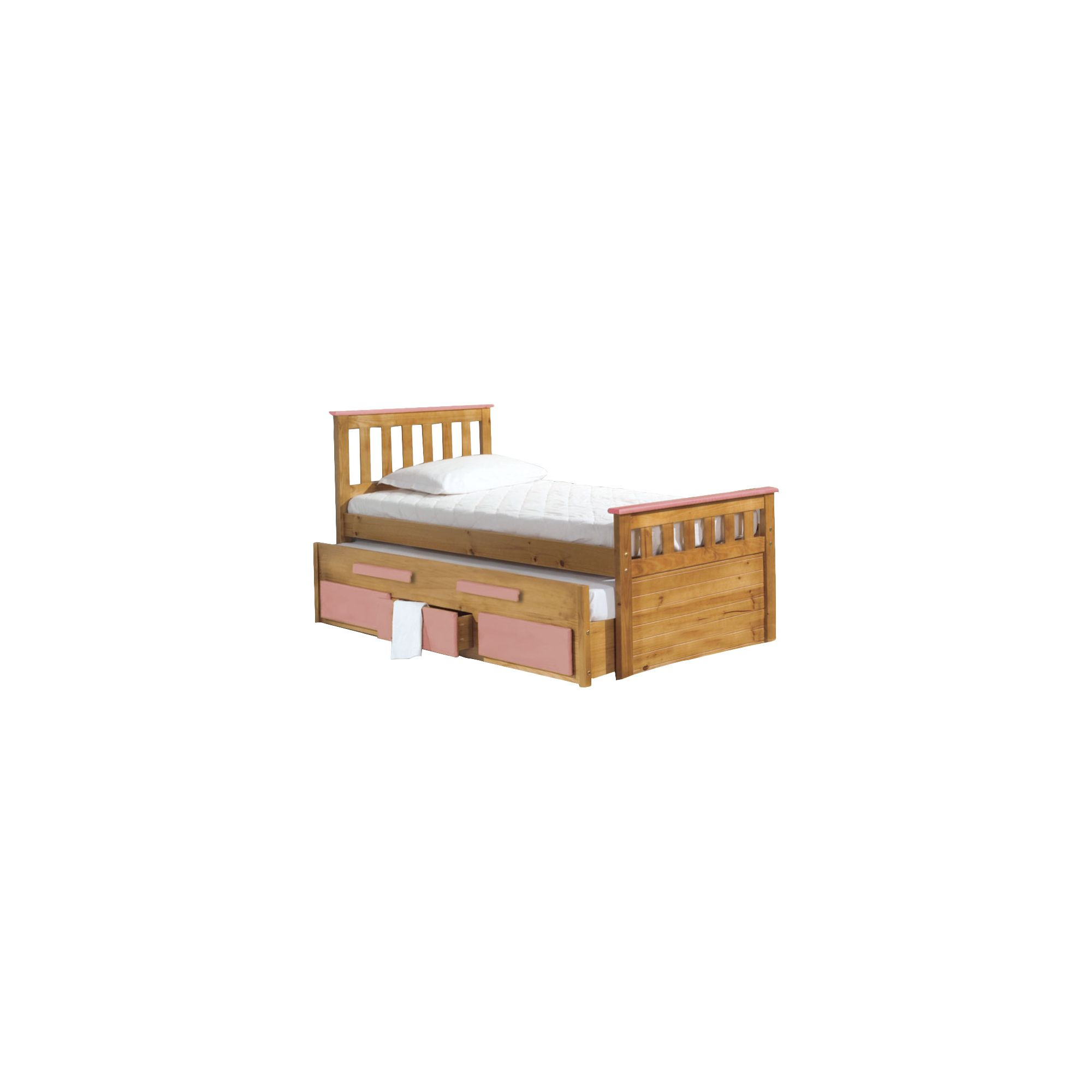 Verona Bergamo Captains Bed with Guest Bed - Antique Pink drawers at Tesco Direct