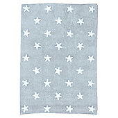 Lorena Canals Grey Stars White Children's Rug - 120 cm W x 160 cm D (3 ft 11 in x 5 ft 3 in)