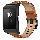 Sony SWR50 SmartWatch 3 Leather Android Smart Watch (Brown)