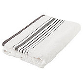 Tesco Linear Bath Sheet White