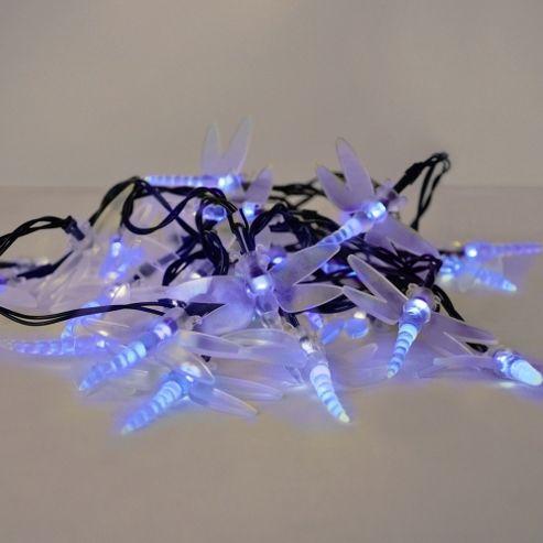 Buy Set of 30 Solar Powered LED Dragonfly String Lights in Blue from our Solar Lights range - Tesco
