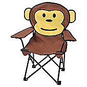 Tesco Kids' Folding Camping Chair, Monkey