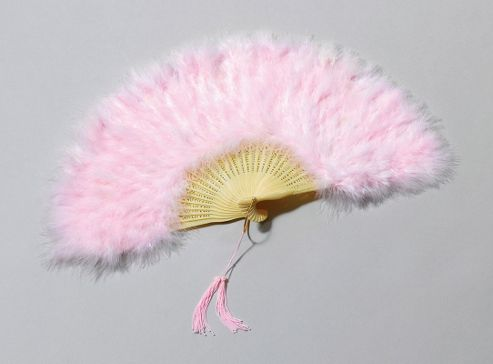 Feather Fan. Pink