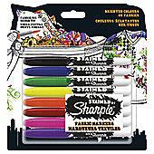 Stained by Sharpie Fabric Markers, 8 Pack