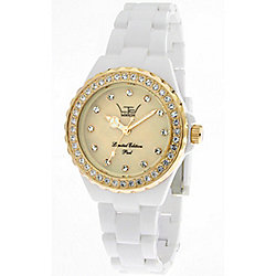 LTD Mini Pearl Ladies White Plastic Date Watch 21503