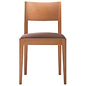 Andreu World Madeira Side Chair - Leather Piel-Black