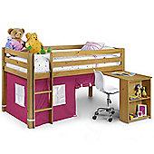 Happy Beds Wendy 3ft Kids Pink Pine Wood Sleep Station Spring Mattress