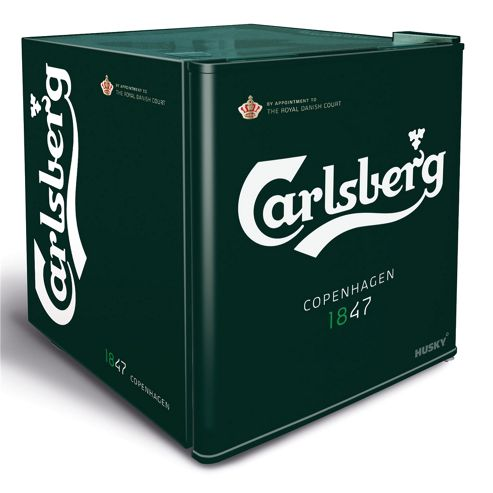 buy husky hus hy208 carlsberg mini beer fridge green. Black Bedroom Furniture Sets. Home Design Ideas