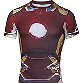 Under Armour Alter Ego Iron Man Body Compression Baselayer Shirt - Red