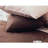 Belledorm Plain Dyed 150 Thread Count Plain Hem Pillowcase (Set of 2) - Chocoholic