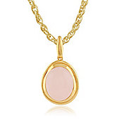 Gemondo Rose Quartz 'Tara' Pastel Pendant Necklace in 9ct Yellow Gold Plated Sterling Silver