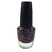 Pretty Glitter Pop Nail Polish-Blue & Red