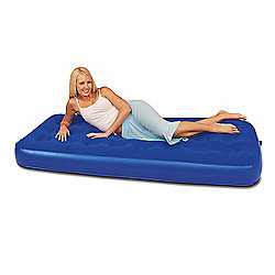 Bestway Blue Flocked Single Air Bed
