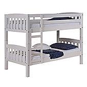 America Short Bunk Bed Frame in White - Single
