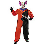 Scary Bo Bo the Clown - Adult Costume Size: 34-36