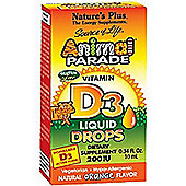 Natures Plus Animal Parade Vit D3 200iu Drops 10ml Liquid