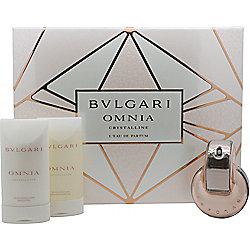 Bvlgari Omnia Crystalline Gift Set 40ml EDP + 75ml Shower Gel + 75ml Body Lotion For Women