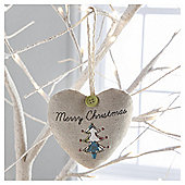 Gisela Graham Scented Fabric Tree Design Heart Hanging Decoration
