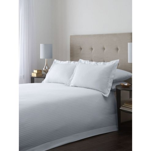 Hotel Collection Satin Stripe King Duvet Cover Set In White