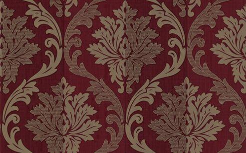 Buy graham brown sfc splendour wallpaper red cream - Red brown and cream wallpaper ...