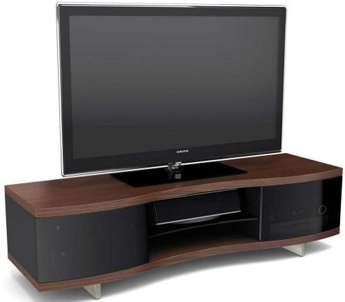 BDI Chocolate Walnut Curved Cabinet For TVs up to 70 inch