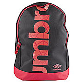 Umbro Commodus Black/Red Rucksack