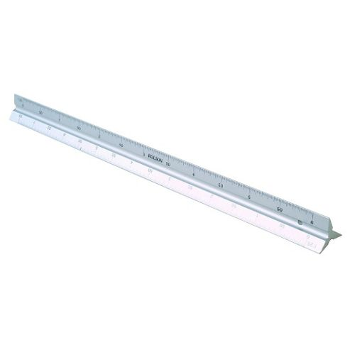 300mm (12-Inch) Six Scale Triangle Ruler