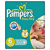 Pampers Baby Dry Economy Pack Extra Large 36