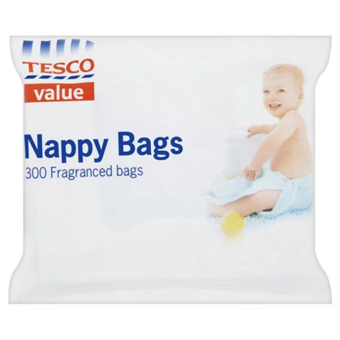 Tesco Everyday Value Nappy Bags - 300