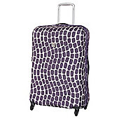IT Luggage Frameless 4-Wheel Suitcase, Purple Wave Large