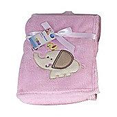 First Steps Supersoft Fleece Baby Blanket Pink Elephant 75x100cm
