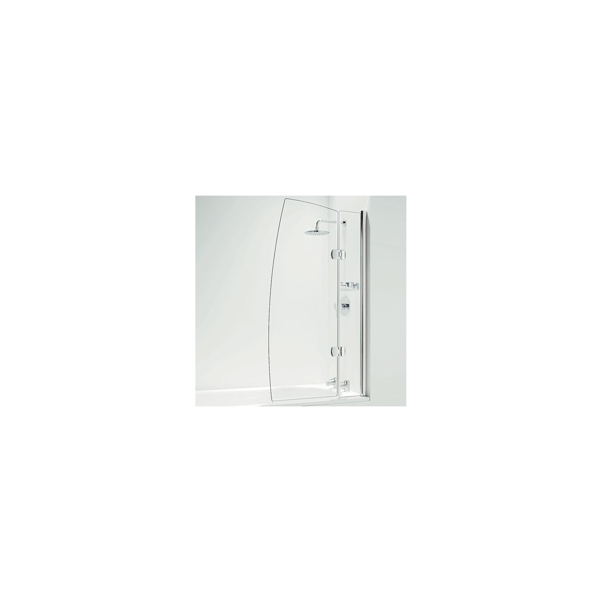Coram Designer Hinged Sail Bath Screen 1400mm High x 800mm Wide - 5mm Glass at Tesco Direct