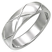 Urban Male Stainless Steel Band Ring For Men 6mm - Size R