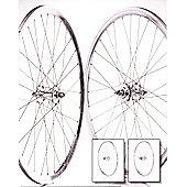 700c Flip Flop Fixie Wheelset (Pair) Silver