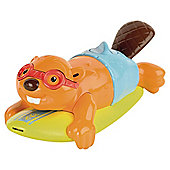 Tomy Aqua Fun Surfin Beaver Toy