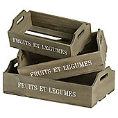 Hill Interiors Fruit and Vegtable Tray (Set of 3)