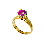 QP Jewellers 1.10ct Pink Topaz Solitaire Ring in 14K Gold