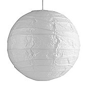 Pair of Large 50cm Sphere Paper Lantern Ceiling Light Shades in White