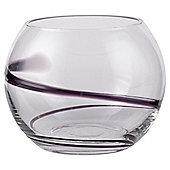Small Plum Swirl Vase