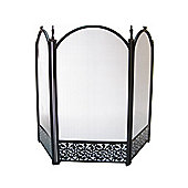 Crannog Three Panel Fire Screen - Black