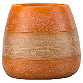 Rustic Bowl Candle Orange, Large