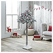 Dobbies Grasmere Adjustable Snowy Pine Tree, 5ft